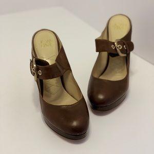 Circa Joan & David — Brown Mary Jane Heels (7.5)